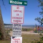 No Fires Sign